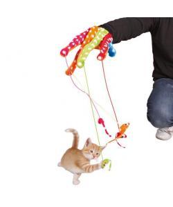 """Игрушка для кошек """"Перчатка с игрушками"""" цветная, 34 см (45631)"""