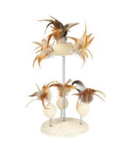Игрушка для кошки сизаль/перья 30 см (40721)