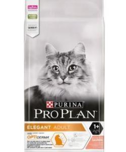 Для взрослых кошек, красивая шерсть и здоровая кожа, с лососем (Optiderma Elegant)