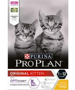 Для котят от 1 до 12 месяцев с курицей (Original Optistart)