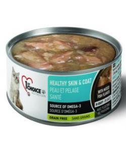 Консервы для взрослых кошек Здоровая кожа и шерсть, сардина и макрель в масле тунца Healthy Skin&Coat