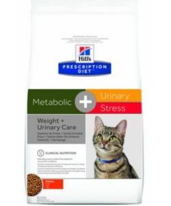 Для взрослых кошек для коррекции веса и лечения мочекаменной болезни Metabolic + Urinary +  Stress