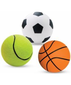 Набор мячиков для кошек и маленьких собак, 4см, 3 шт.