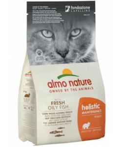 Для взрослых кошек с жирной рыбой и коричневым рисом (Holistic - Adult Cat White Fish&Rice)