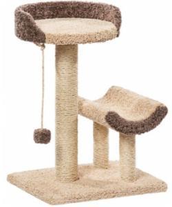 """Когтеточка для кошек ковролиновая """"Кука"""" 57*45*78 см, сизаль"""