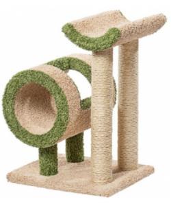 Когтеточка для кошек ковролиновая «Труба и седло» 60*47*77 см, сизаль