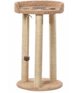 Когтеточка для кошек ковролиновая «МегаЛапа» 62*62*110 см, сизаль