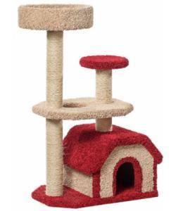 Домик для кошек ковролиновый «Конура» 46*67*116 см, сизаль