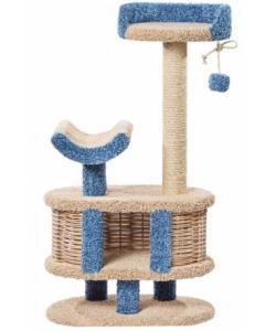 Домик когтеточка для кошек ковролиновый «Йорик» 67*42*123 см, сизаль