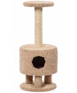 Домик для кошек ковролиновый «Круглый на ножках» 42*42*102 см, сизаль