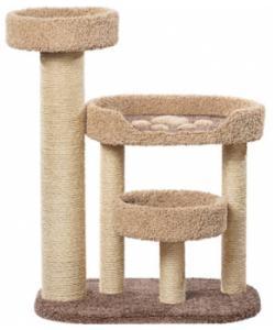 Когтеточка для кошек ковролиновая «Хортик» 87*57*114 см, сизаль
