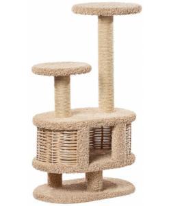Домик когтеточка для кошек ковролиновый «Моник» 67*42*116 см, сизаль