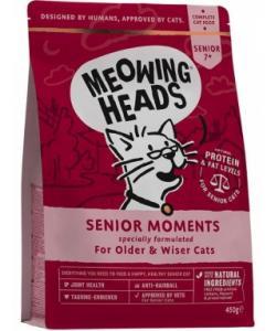 """Для кошек старше 7 лет, с лососем и яйцом """"Мудрые года"""", Senior Moments"""