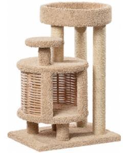 Домик когтеточка для кошек ковролиновый «Эдуська» 52*72*100 см, сизаль