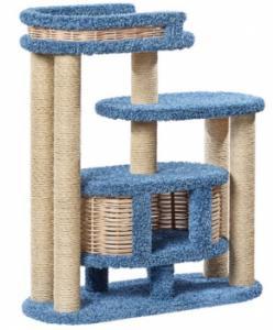 Домик когтеточка для кошек ковролиновый «Чаруша» 100*42*110 см, сизаль