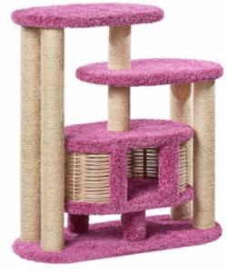 Домик когтеточка для кошек ковролиновый «Маруська» 100*42*100 см, сизаль