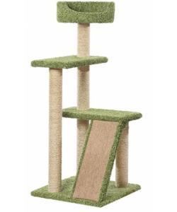 Когтеточка для кошек ковролиновая «Летрам» 62*62*146 см, сизаль