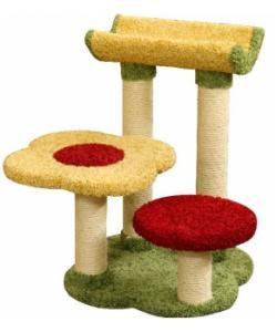 Когтеточка для кошек ковролиновая «Кумбика» 62*62*78 см, сизаль