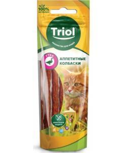 Аппетитные колбаски из утки для кошек (PT28)