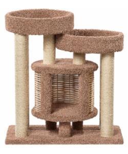 Домик когтеточка для кошек ковролиновый «Понго» 92*52*100 см, сизаль
