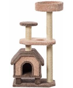 Домик для кошек ковролиновый «Конура на ножках» 46*67*131 см, сизаль