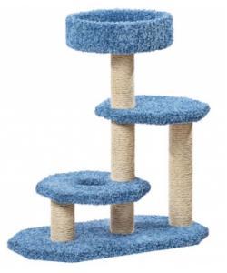 Когтеточка для кошек ковролиновая «Двухъярусная» 42*84*94 см, сизаль