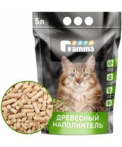 Древесный наполнитель, крупные гранулы, Gamma 5л