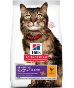 Для взрослых кошек с чувствительным желудком и кожей (Adult Sensitive Stomach & Skin)