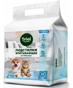 Впитывающие подстилки для животных на ЛИПУЧКАХ 12 шт. (DP10)