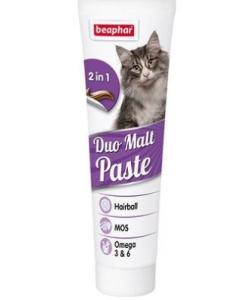 Двойная паста для вывода шерсти из кишечника, для кошек, Duo Malt Paste