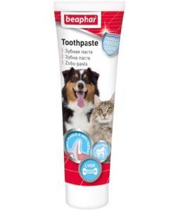 Зубная паста со вкусом печени для кошек и собак