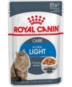 Кусочки в желе для кошек: 1-7лет, низкокалорийные. (Ultra Light)