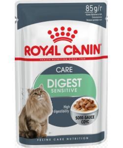 Кусочки в соусе для кошек 1-7 лет:ОТЛИЧНОЕ ПИЩЕВАРЕНИЕ (DIGEST Sensitive)