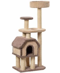 Домик для кошек ковролиновый «Конура на высоких ножках» 46*67*148 см, сизаль