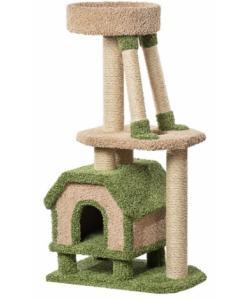 Домик для кошек ковролиновый «Конура для буйных кошек» 46*67*131 см, сизаль