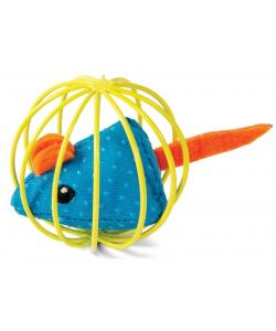 """Игрушка """"Мышка в шаре"""", для кошек, полиэстер/металл, 6,3 см"""