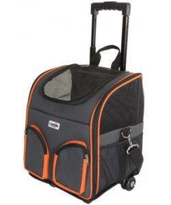 Сумка-переноска для животных на колесах с двумя передними карманами 36*30*38см