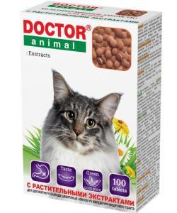 Мультивитаминное лакомство Doctor Animal с растительными экстрактами, для кошек, 100 таблеток