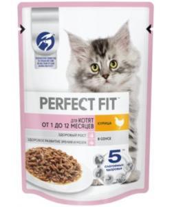 Влажный корм  для котят от 1 до 12 месяцев, с курицей в соусе