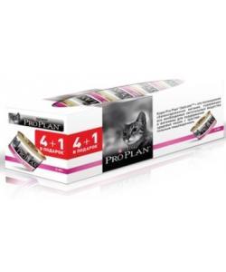 Акция Промо-набор 4+1 Консервы Для взрослых кошек с индейкой и рисом- идеальное пищеварение (Delicate)