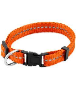 """Ошейник светоотражающий """"Рефлекс"""" XS 10мм обхват 18-28см, оранжевый"""