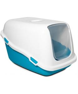 Туалет P920 для кошек закрытый, синий, 57*39*35см