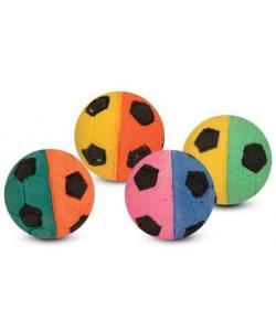 """Игрушка для кошек """"Мяч футбольный"""" разноцветный, d4см, 4шт."""