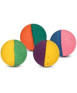 """Игрушка для кошек """"Мяч для гольфа"""" разноцветный, d4см, 4шт."""