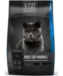 Сухой корм для взрослых кошек с индейкой для выведения комков шерсти из жкт