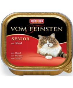 Консервы для кошек старше 7 лет с говядиной(Vom Feinsten Senior)