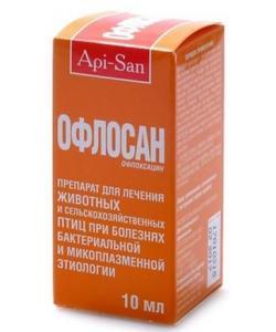 Офлосан -антибиотик: р-р оральный (10% офлоксацин)