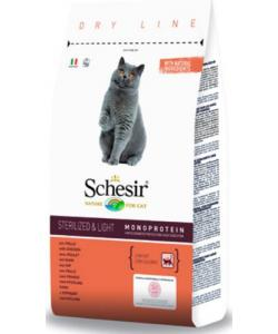 Для кастрированных котов и стерилизованных кошек облегченный с курицей Schesir Sterilized & Light