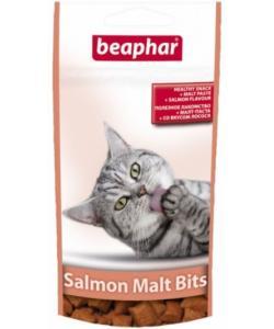 Лакомство для вывода шерсти, лосось (Malt Bits Salmon), 75шт.