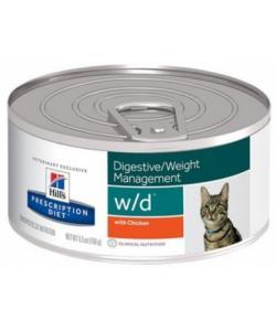 Консервы W/D для Кошек - Лечение сахарного диабета, запоров (Low Fat/Diabet)